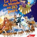Spectacle : Illustration affiche / Le Tour du Monde en 80 jours • © Christophe HOULES, Illustrateur