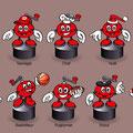 Déclinaison mascotte & création maquettes de figurines • SIBO / Poivre Rouge