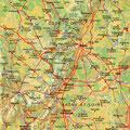 La Bourgogne • Création carte touristique / Édition : Les Créations du Pélican • © recreacom.fr - Studio de création Christophe Houlès
