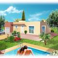 Illustration maison individuelle : Technique mixte • © Christophe Houlès, illustrateur