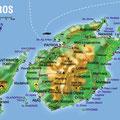 Paros • Création carte touristique / Édition : Les Créations du Pélican • © recreacom.fr - Studio de création Christophe Houlès