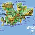 Mykonos • Création carte touristique / Édition : Les Créations du Pélican • © recreacom.fr - Studio de création Christophe Houlès