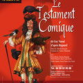 "Création affiche spectacle : ""Le testament comique"" de Guy Vassal • © Récréacom, Christophe Houlès illustrateur"