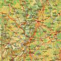 Bourgogne • Création carte touristique / Édition : Les Créations du Pélican • © recreacom.fr - Studio de création Christophe Houlès