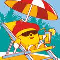 Déclinaison mascotte & création serviette de bain • SIBO / Courtepaille