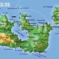 Milos • Création carte touristique / Édition : Les Créations du Pélican • © recreacom.fr - Studio de création Christophe Houlès