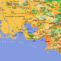 Provence • Création carte touristique / Édition : Les Créations du Pélican • © recreacom.fr - Studio de création Christophe Houlès