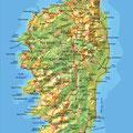 La Corse • Création carte touristique / Édition : Les Créations du Pélican • © recreacom.fr - Studio de création Christophe Houlès