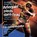 """Création affiche spectacle : """"Arlequin pied dans l'eau"""" de Guy Vassal • © Récréacom, Christophe Houlès graphiste"""