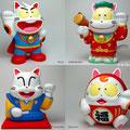 招き猫いろいろ Various beckoning cats.