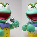 歌うカメさん Singing tortoise.