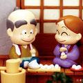 ねずみのすもう Sumo of the mouse. Shogakukan ehon