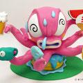 真夏のタコ Octopus of the midsummer.