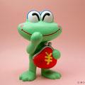 カエルは縁起物 The frog is a mascot.