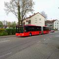 KA-SB 582 am 04.04.2014 als Kurs 244 095 an der Haltestelle Baden-Baden Hochhaus.