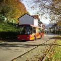 KA-SB 273 am 31.10.2011 als Umleiter 244 in der Gernsbacher Straße nach Loffenau.