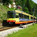 S 37071 am 14.07.2013 bei der Einfahrt in den Bf. Bad Herrenalb.