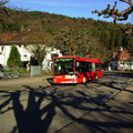 KA-SB 298 am 20.03.2014 als Kurs 244 037 an der Haltestelle Bad Herrenalb Post.