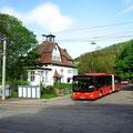 KA-SB 592 am 20.05.2013 als Kurs 244 088 auf der Albbrücke in Bad Herrenalb.
