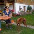 mit Astrid im Allgäu in den Sommerferien, August 2009