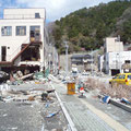 釜石市内の鉄骨造建物の被災状況