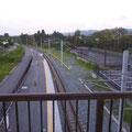 840 大野駅から夜ノ森駅方向を見る