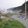 0019 漁協漁村センターから見た海岸部の被害