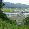 386 送出口付近から見た陸前高田(3)右側に旧道の駅高田松原・タピック45