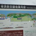 934 埒浜防災緑地の計画案内(新地浄化センター付近)