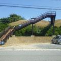 464 広田漁港の津波避難階段と過去の津波浸水(4つの津波)の表示