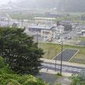601 城山から見た大槌駅付近