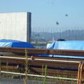 376 階上の防潮堤工事の状況