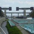 382 下安家の三陸道工事、三鉄鉄橋、45号