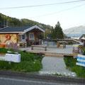 301 恋し浜駅前に設けられた臨時レストラン「ホタテデッキ」