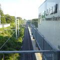 822 夜ノ森駅から富岡駅方向を見る
