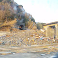 南三陸町新井田付近のJR気仙沼線の被災状況