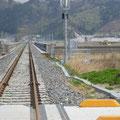 672 山田線の状況(鵜住居川を渡る鉄橋:鵜住居→大槌方向)