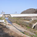 0660「米田川河口付近の農道橋の崩落」
