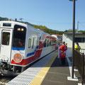339 浪板海岸駅に到着する三鉄