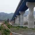709 山田線の状況(大槌川橋梁工事(安渡側))