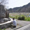 0860「津波記念碑 明治で死者250名、昭和で死者47名」