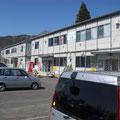 グリーンピア三陸宮古内の3棟の仮設店舗(2012.9.25入居)