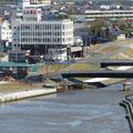 812 旧北上川の橋梁の状況(石巻信金の下流側、撤去、既設、新設)