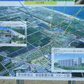 980 新地駅周辺の施設配置計画の案内板