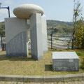 482 女川病院の庭の津波碑