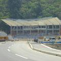 665 ラグビー会場の建設(旧・釜石東中、旧・鵜住居小の跡地)