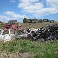 3226 放置された被災家屋や自動車