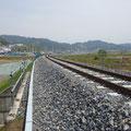 676 山田線の状況(小鎚川を渡る鉄橋:鵜住居→大槌方向)