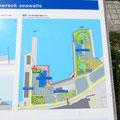 1363 小名浜港の説明図(軍艦2隻を沈めて防波堤を造った)