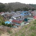 昭和の三陸津浪後の高台移転先の集団地